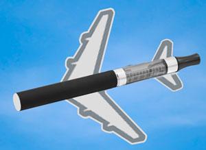 Как курить электронную сигарету в самолете?